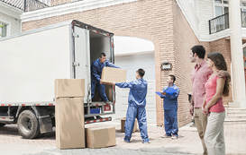 House packing and shifting goods with truck service